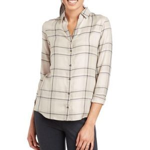 KUHL Adelaide Long Sleeve Plaid Button Up